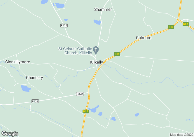 Map for Kilkelly, Mayo