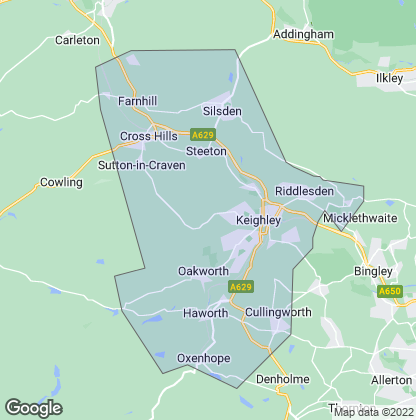 Map of property in Keighley