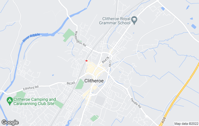 Map for MSW Hewetsons, Clitheroe