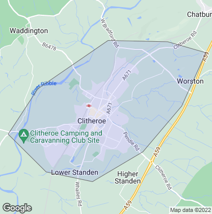 Map of property in Clitheroe