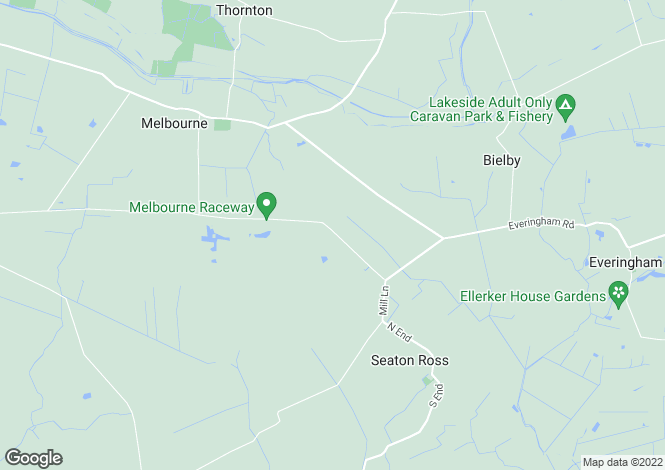Map for Melbourne Lodge, Seaton Ross