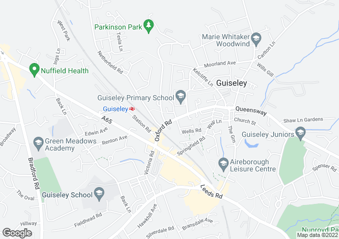 Map for HAZELDENE, OXFORD ROAD, GUISELEY, LS20 9AB