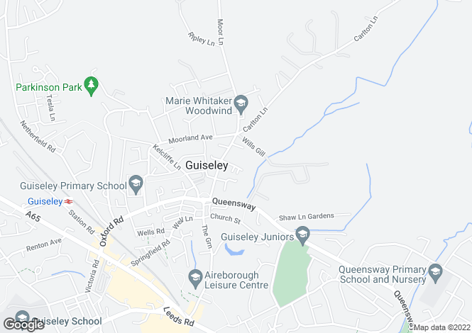 Map for Manor Farm Court, Guiseley, Leeds