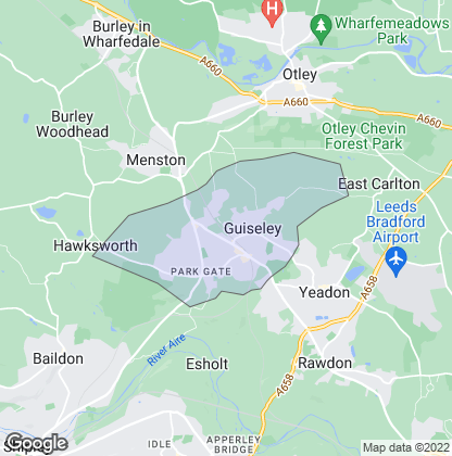 Map of property in Guiseley