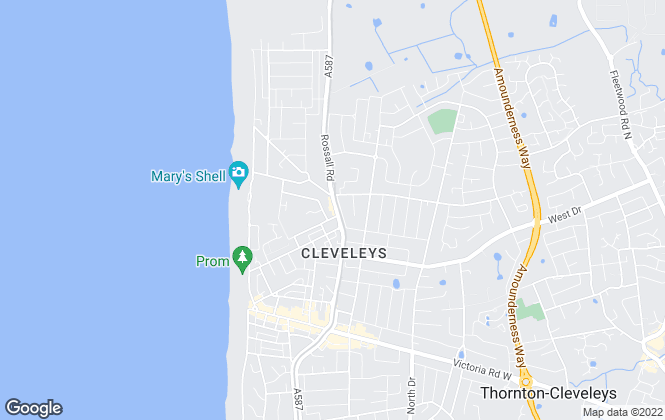 Map for The Agency Lancashire Ltd, Thornton Cleveleys