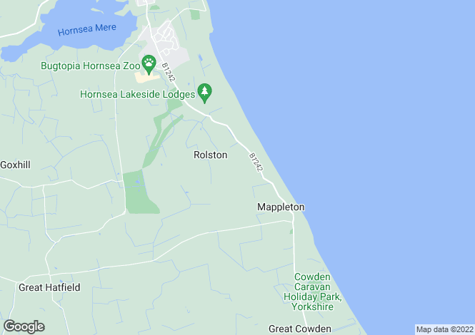 Map for Rolston Hall, Hornsea, East Yorkshire, HU18 1XJ