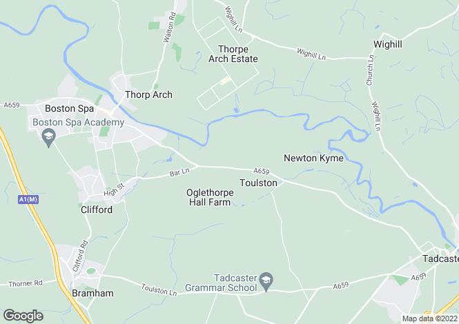 Map for PAPYRUS VILLAS, NEWTON KYME, LS24 9LX