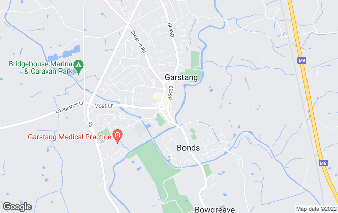 Map for Armitstead Barnett, Garstang