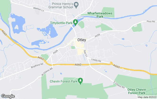 Map for Dacres , Otley