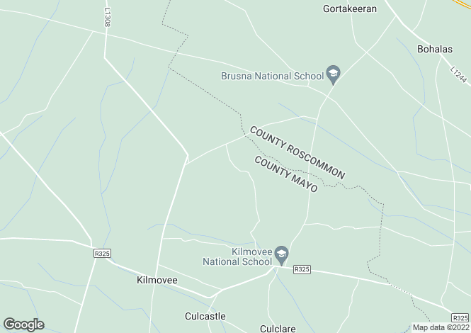 Map for Skeheen Village, Kilmovee, Mayo