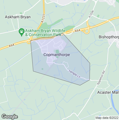 Map of property in Copmanthorpe