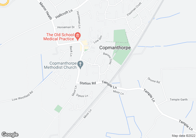 Map for St. Giles Way, Copmanthorpe, York, YO23 3XT