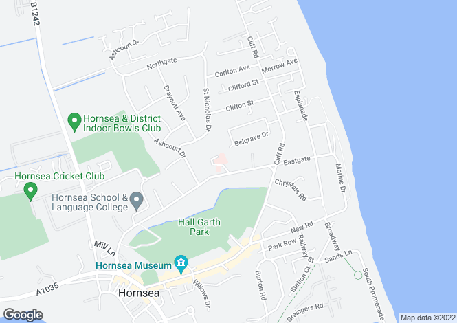 Map for Hawthorns,47, Eastgate, Hornsea, East Yorkshire, HU18