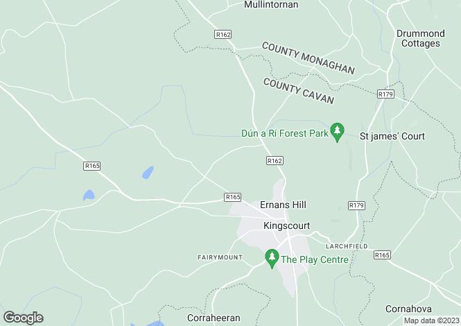Map for Cornagee, Kingscourt, Cavan