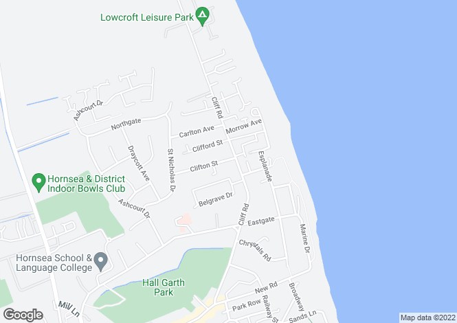 Map for Cliff Road, Hornsea HU18