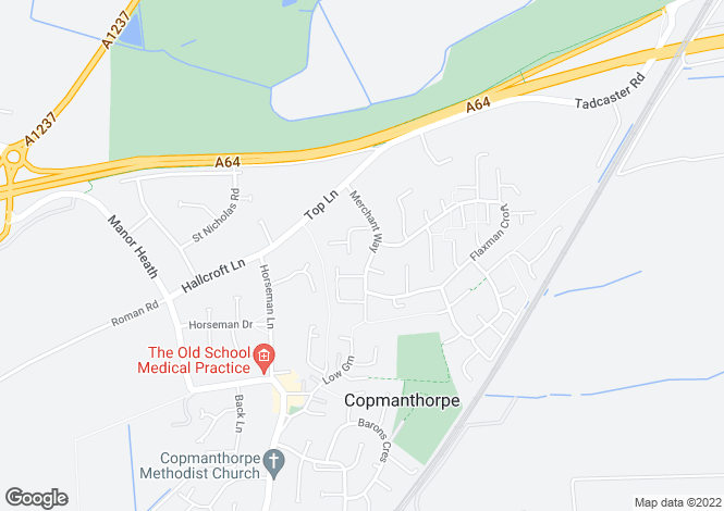 Map for 2 merchant Way, Copmanthorpe, York, YO23 3TS