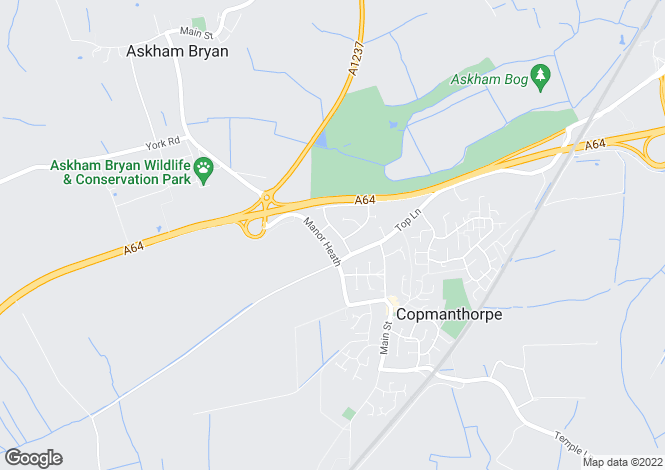 Map for 27 College Road, Copmanthorpe, York YO23 3US