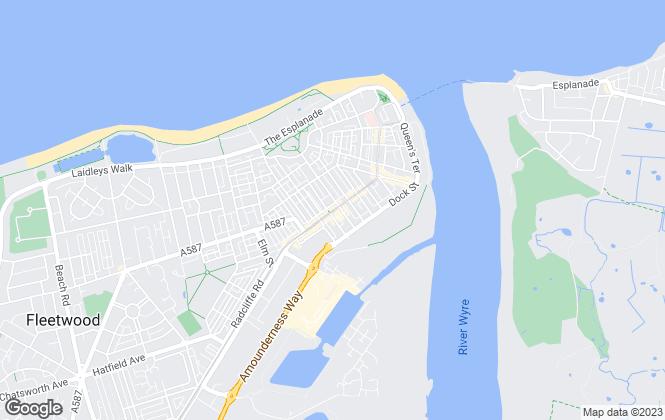 Map for Unique Estate Agency Ltd, Fleetwood