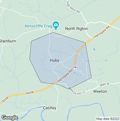 Map of property in Huby