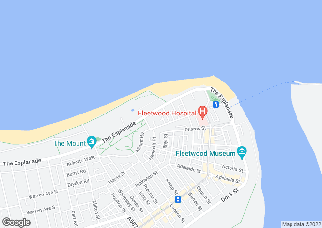 Map for The Kathrene Holiday Flats, 27 The Esplanade, Fleetwood, Lancashire, FY7 6HF