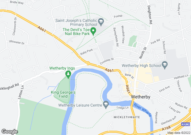 Map for Westgate, Wetherby