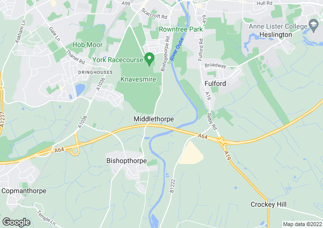 Map for Middlethorpe Manor, Middlethorpe, York, YO23 2QB