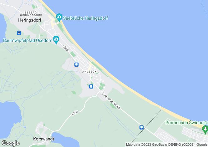 Map for Heimstrasse 13, Seebad Ahlbeck, Mecklenburg-Vorpommern, Germany