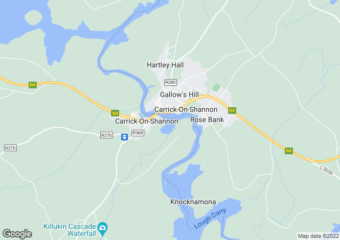 Map for Leitrim, Carrick-on-Shannon