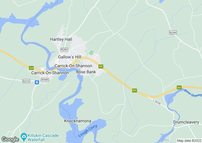 Map for Carrick-on-Shannon, Leitrim