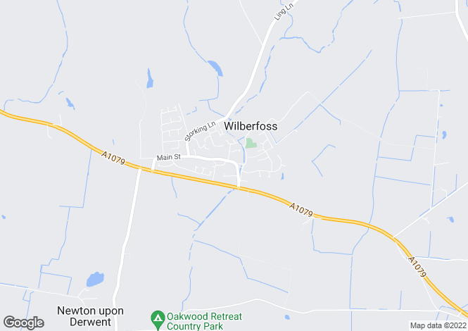 Map for Main Street,