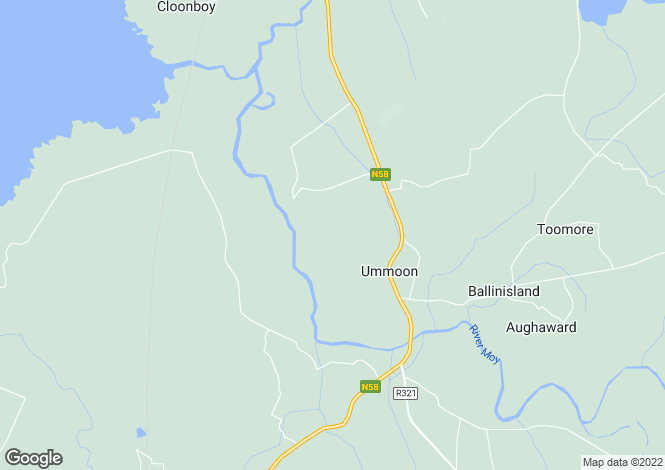 Map for Foxford, Mayo