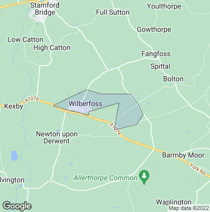 Map of property in Wilberfoss