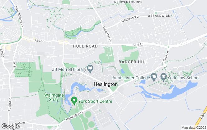 Map for iglu, York