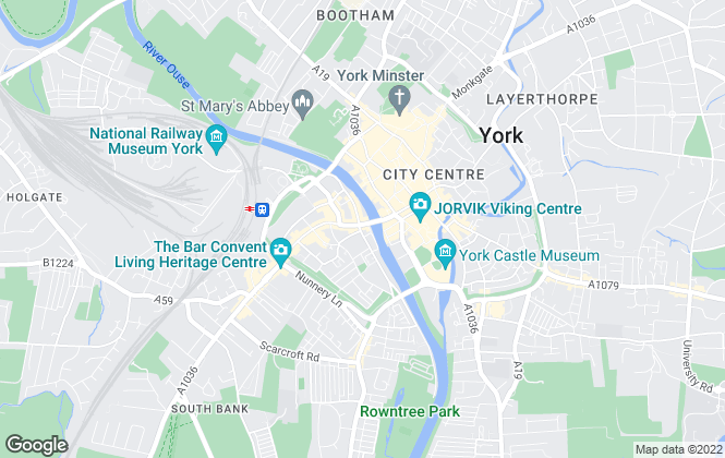Map for Martin & Co, York - Lettings & Sales