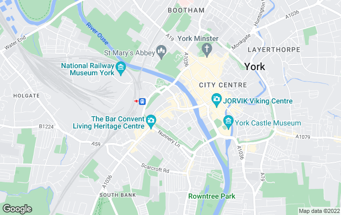 Map for Carter Jonas, York