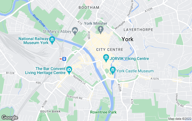 Map for Coalters Estate Agents, York