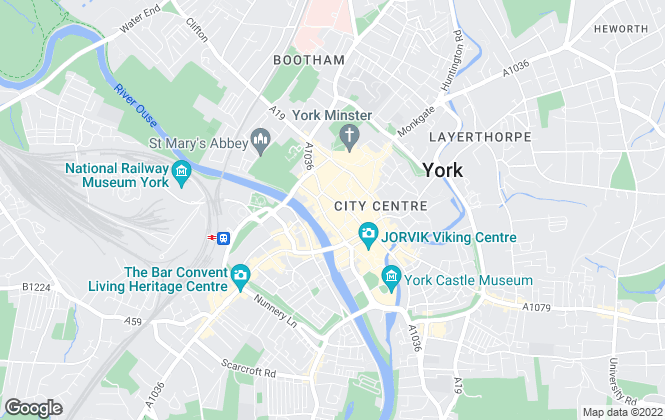 Map for Peter Moody & Company, York