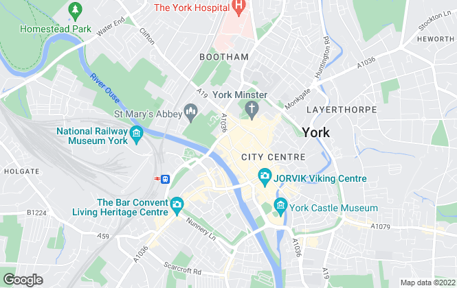 Map for Fine & Country, York