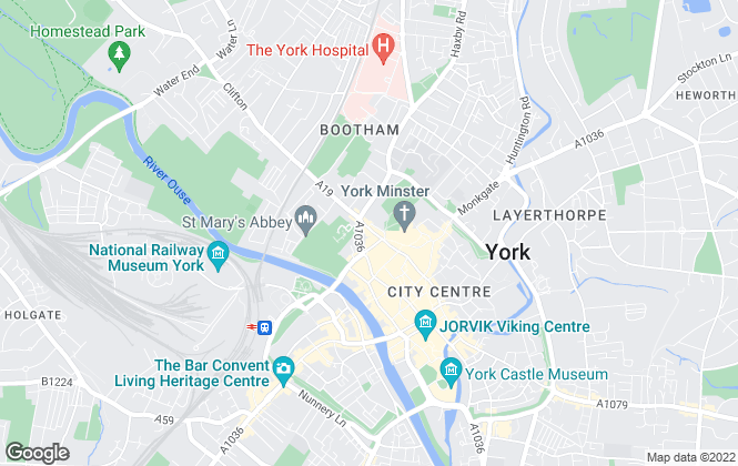 Map for Naish Estate Agents & Solicitors, York