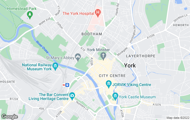 Map for Ashtons Letting & Management, York City - Lettings