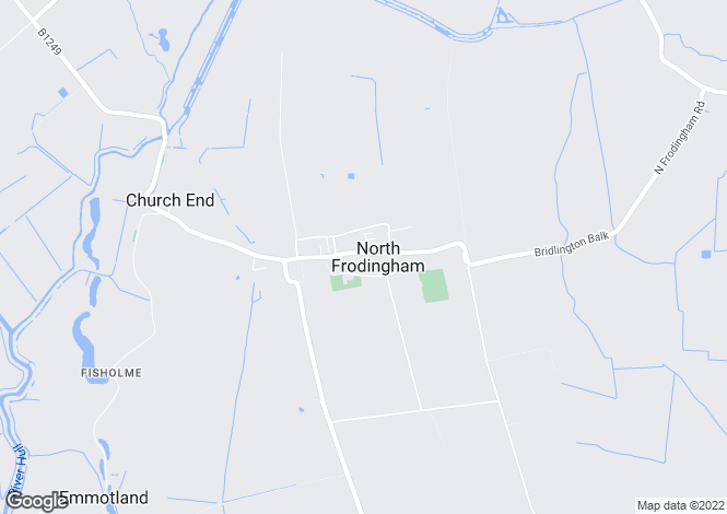 Map for Main Street, North Frodingham, Driffield