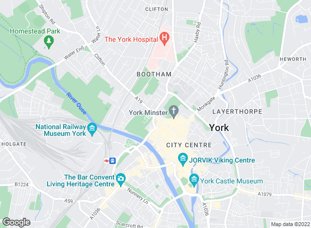 Map for Ashtons Estate Agents, York City