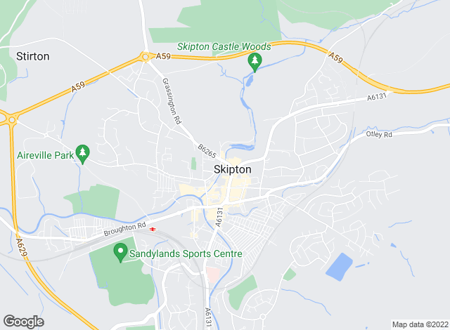 Map for David Hill, Skipton