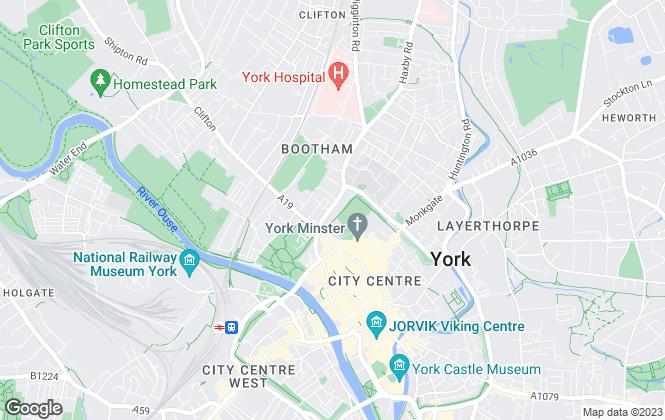 Map for 2 Let Agency, York