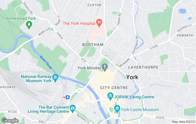 Map for 2 Let Agency, York