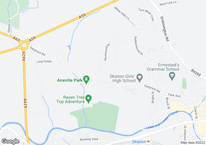 Map for Park Wood Crescent,