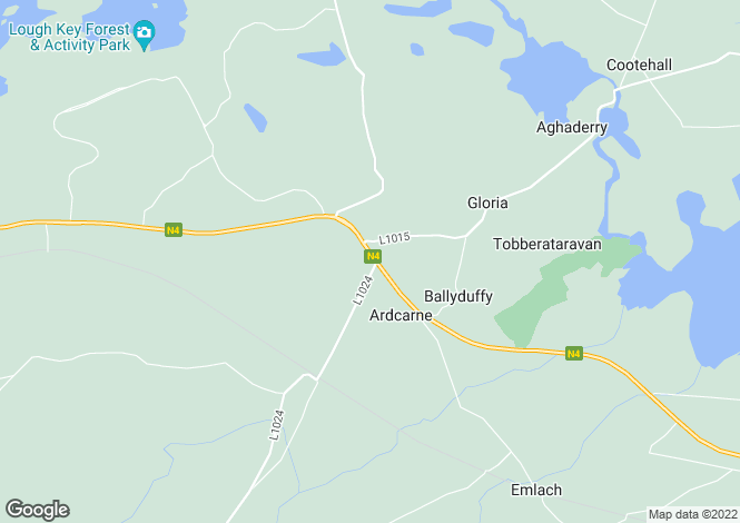 Map for Roscommon, Boyle