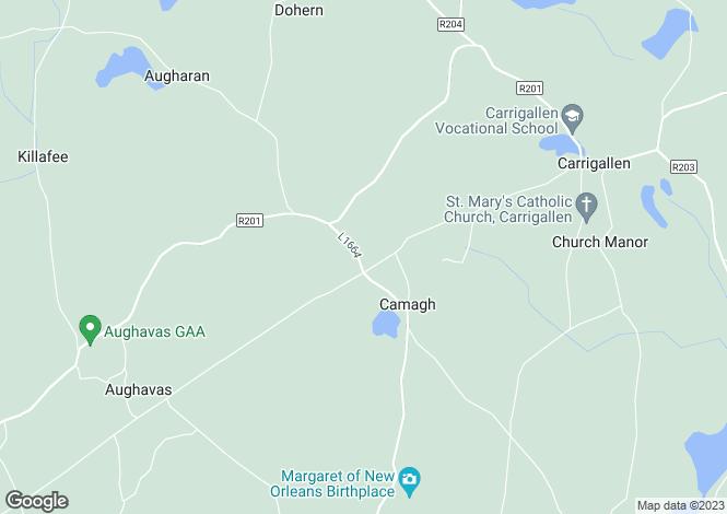 Map for Mullanadarragh, Carrigallen, Leitrim