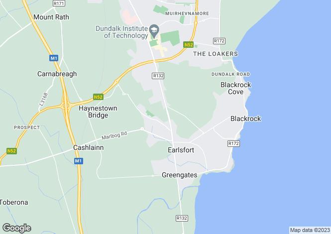 Map for Bellfield Avenue,Dublin Road