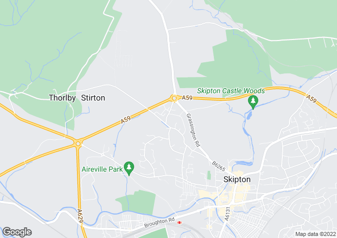 Map for RAIKES ROAD, SKIPTON, BD23 1LU